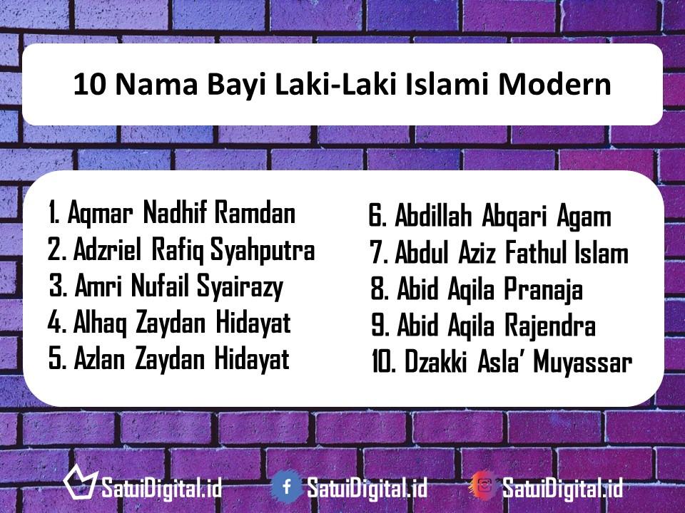 Nama Bayi Laki-Laki Islami Modern